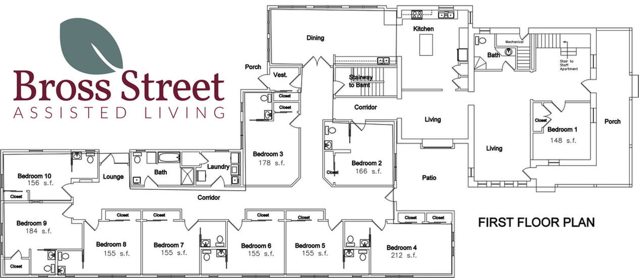 Floor Plan of Bross Street